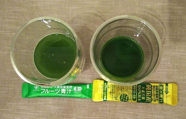 コストコ 金の青汁 フルーツ青汁 比較