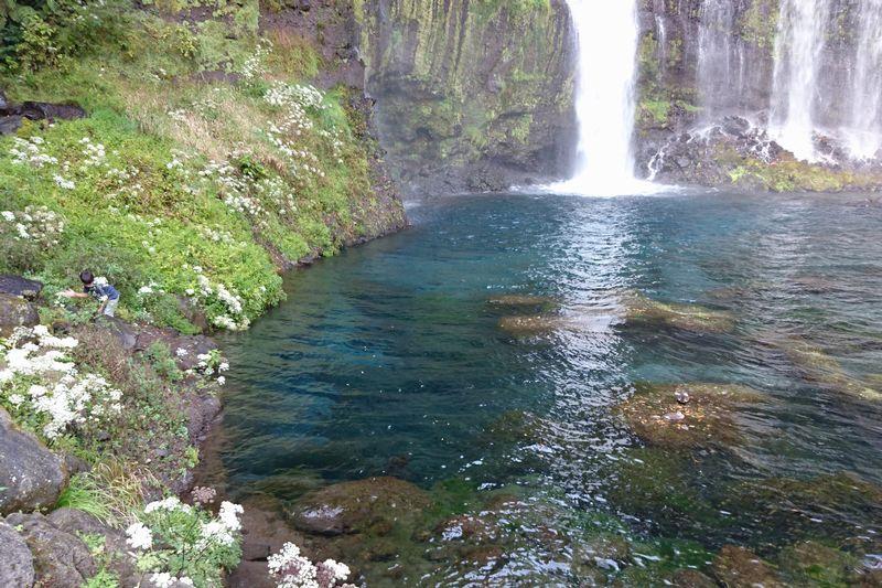 白糸の滝 滝つぼ